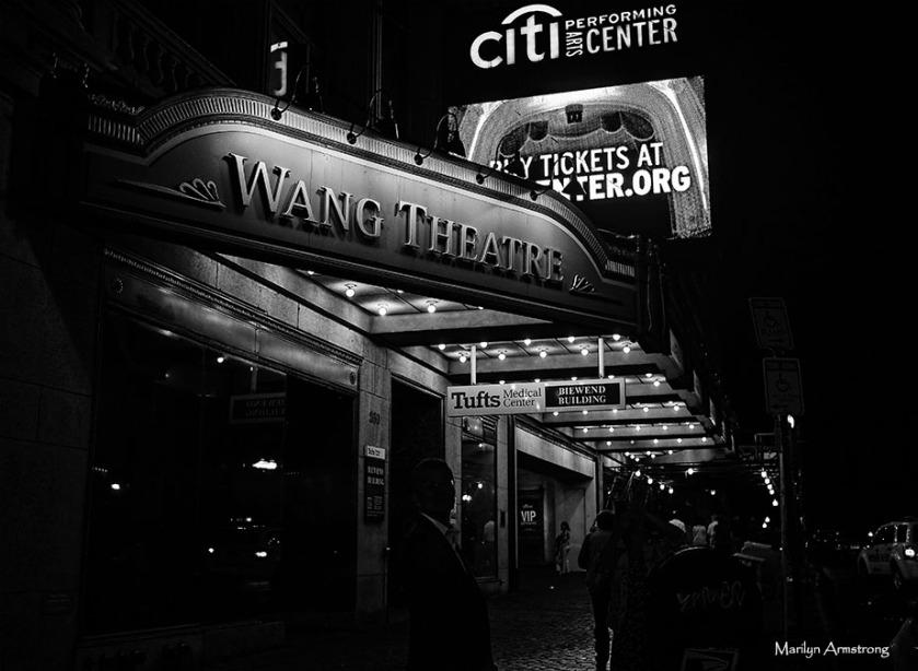 Wang Theater, Boston, night