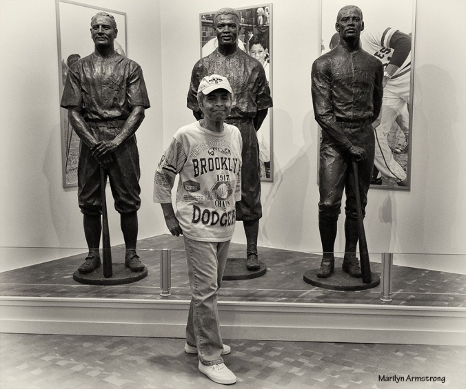 Garry with his heroes of baseball at the Hall of Fame in Cooperstown, New Yoek