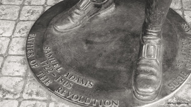 The feet of John Adams - in bronze