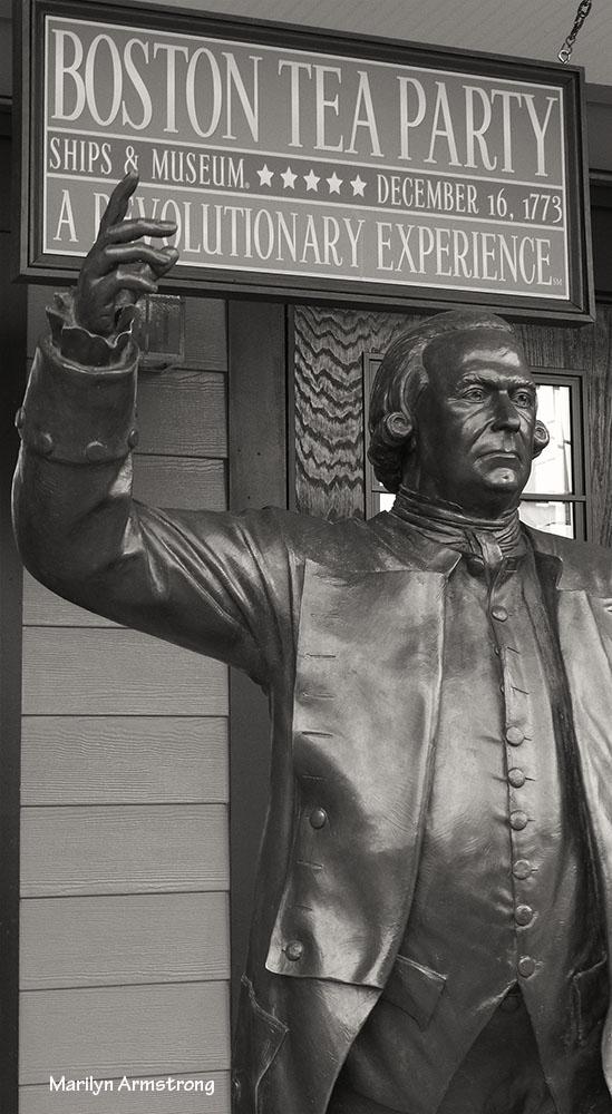 "Sam ""The Man"" Adams ... in bronze, life-size"