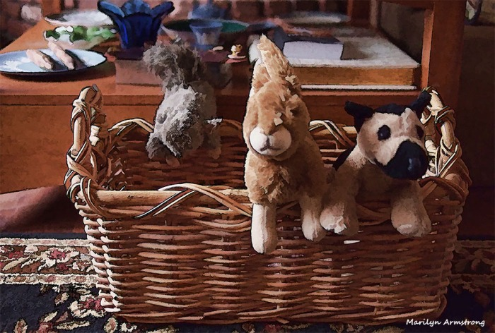 Toys in the basket!