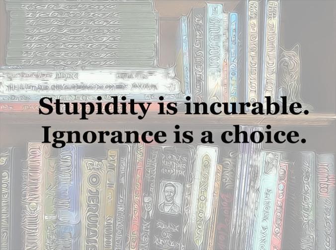 ignorance-stupidity