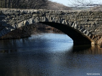Stone bridge over the Blackstone River and Canal