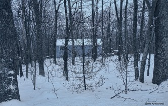 Photo: Garry Armstrong - Our house in winter