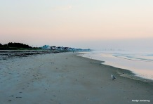 Atlantic shore in Ogunquit. Maine at dawn