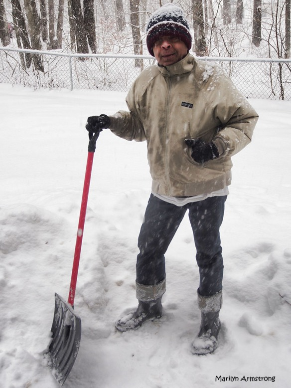 Garry with snow shovel
