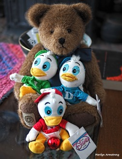 Teddy with Hewy, Dewy, and Louie