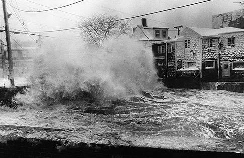 High winds and a high tide along the shore did enormous damage