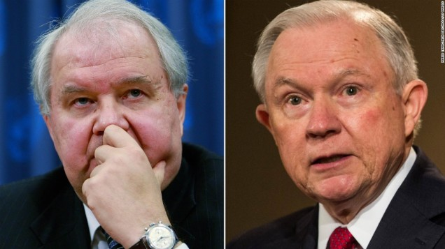 Sergey Kislyak and Jeff Sessions - Photo: CNN