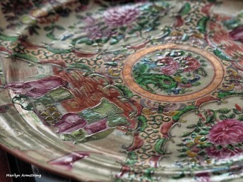 Rose Famille plate, mid 19th century