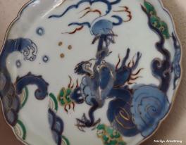 1800s Japanese porcelain plate