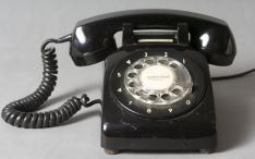 dial telephone in black