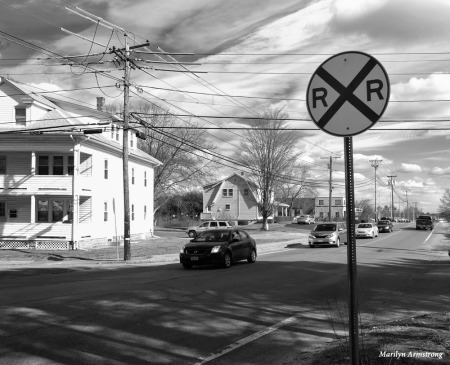 X means railroad crossing