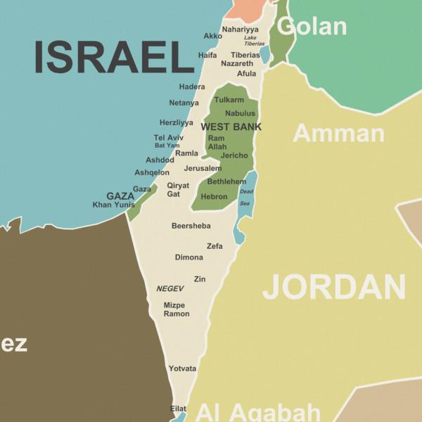 Israel map 1 Serendipity Seeking Intelligent Life on Earth