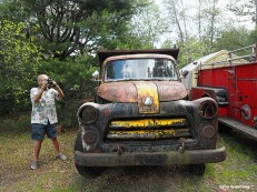 Garry and an old vehicle