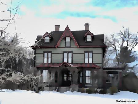 "Victorian ""painted lady"" Uxbridge, Massachusetts"