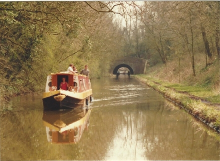 Another boat on the canal