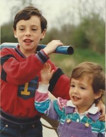 My kids at the tiller