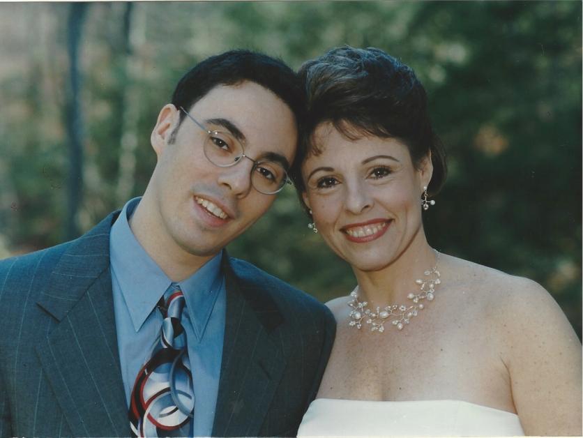 David at 22 at my wedding to Tom