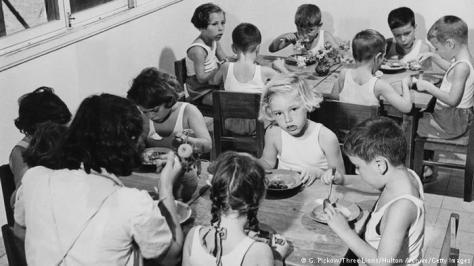 Kids on early Kibbutz