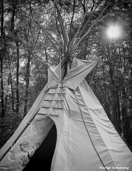 One tepee
