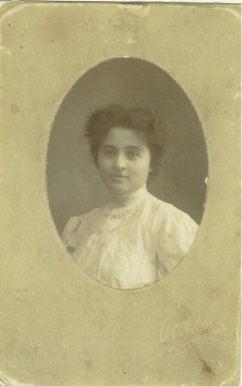 Sarah as a young woman