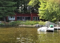 View of the house from the water