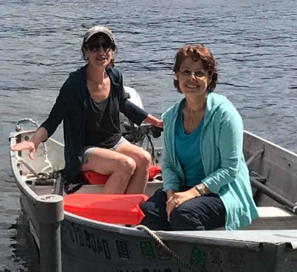 Wendy and me in the rowboat (which she got in 1965)