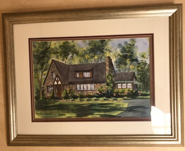 Painting we had done of the house before we sold it