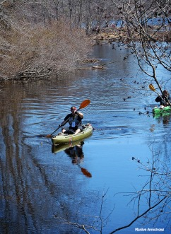Kayak on the Blackstone in early spring