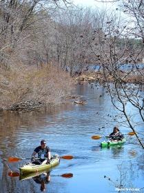 Kayaking on the Blackstone River