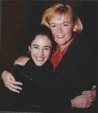 Daniella and Sarah at her Bat Mitzvah in 1998