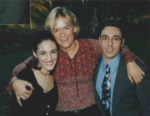 Daniella, David and Sarah at my wedding in 2002
