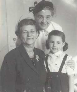 Esther, me and Grandma. I was about four