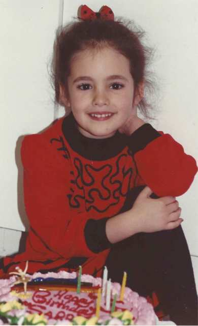 Sarah at age five
