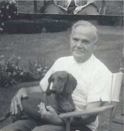 Grandpa and my dog, Schnitzel, who I got when I was eleven