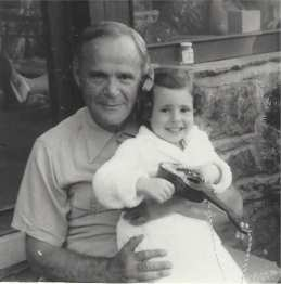 Grandpa and me when I was about three