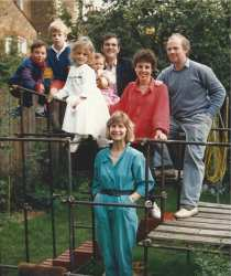 The Miller and Kaiser families in 1986