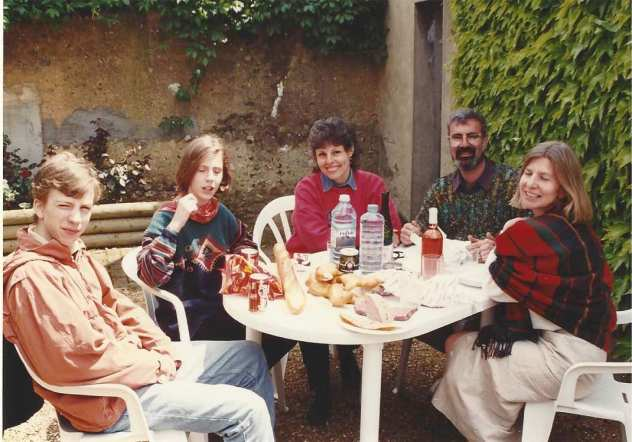 Larry and me with three of the Millers in 1994