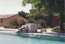 Pool and house at Jas des Eydins, 1996