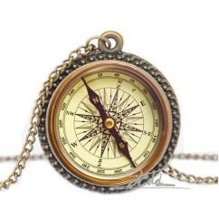 Compass-Antique-Zinc-Alloy-Glass