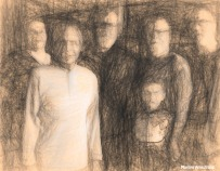 The whole gang in a sketch