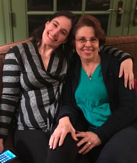 Sarah and Ellin at Xmas