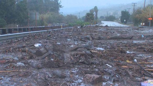 mudslide California January 2018