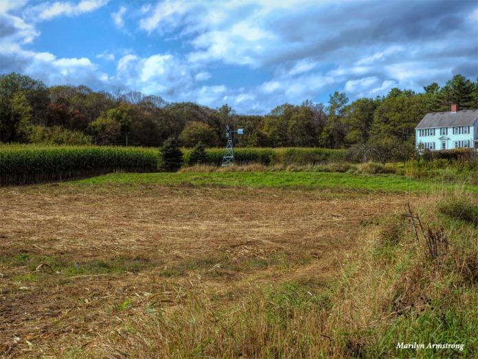 Across a plowed field ...