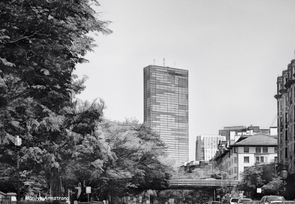 View of the Prudential Tower in Boston