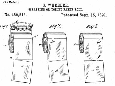 Correct way to hang toilet paper -- from patent