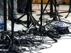 Wires on floor