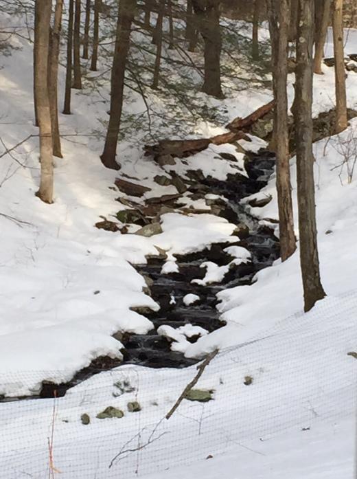 waterfall - snow