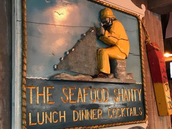 Wall art at Seafood Shanty